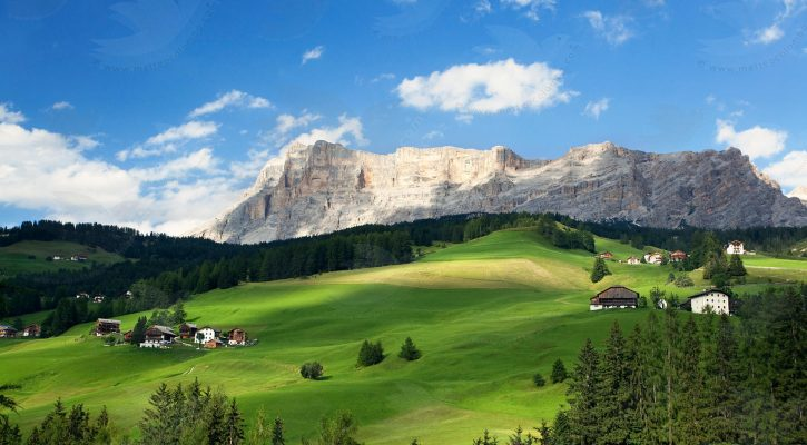 Alpen zomer zomervakantie