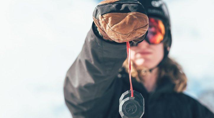 Koptelefoon tijdens skiën